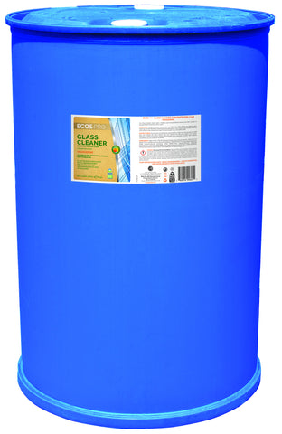 Glass Cleaner Concentrate - Orangerine, Earth Friendly ECOS Pro Product (55 gal drum)