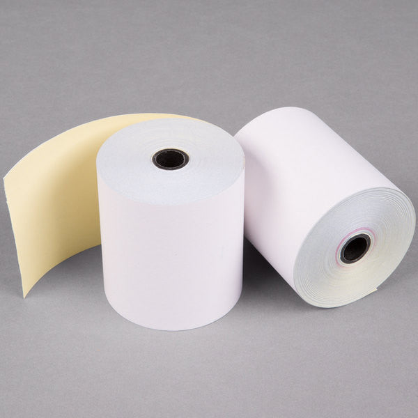 "Nashua 2 Ply Carbonless Paper Roll, 3"" x 90', 50/case"