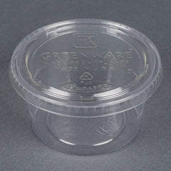 Fabri-Kal® Clear Portion Cups Lids, 4 oz., 2500/carton