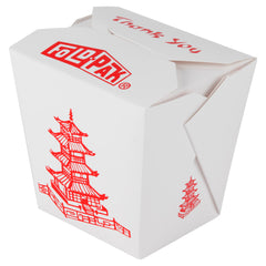Fold-Pak 32 oz. Microwavable Take-Out Container, Pagoda, 9/50/pack