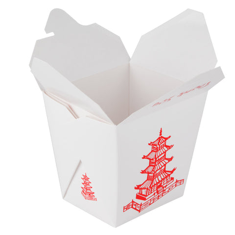 Fold-Pak 16 oz. Microwavable Take-Out Container, Pagoda, 9/50/pack