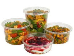 Fabri-Kal® Polypropylene Clear Deli Containers, 16 oz., 10/50/case
