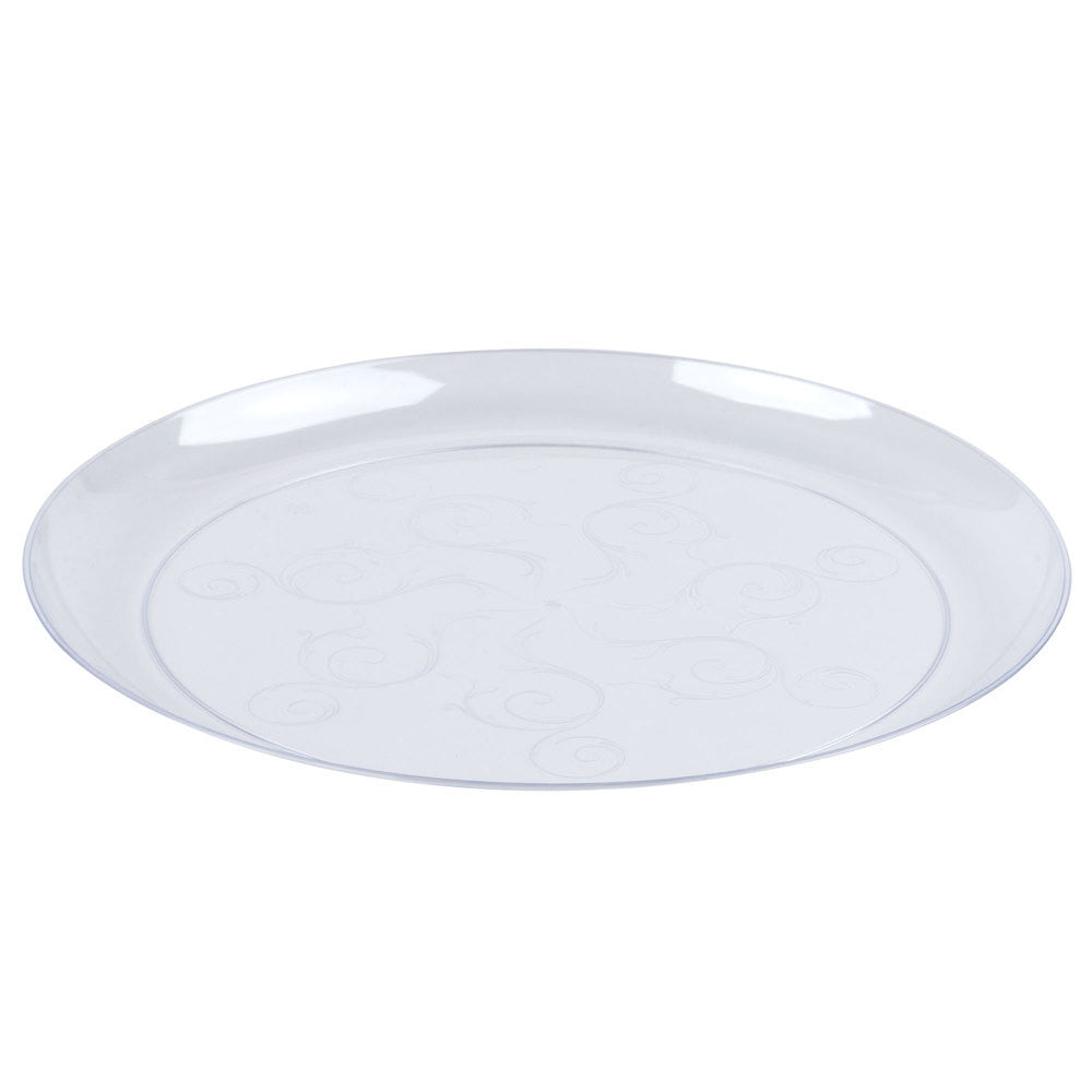 "Fineline Savvi Serve 6 1/4"" Clear Plastic Plate, 240/case"
