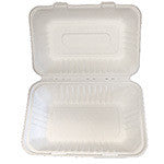 Hinged Lid Container, 2-section, 9 x 6