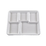 5 Compartment Tray, 4/125/case