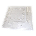 "Diamond 10"" Square Plate Clear Lid, 2/125/case"