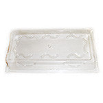 Diamond Rectangle Plate Clear Lid, 10 x 5