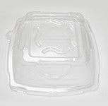 Diamond Square Rimmed Bowl Clear Lid, 12 oz., 4/125/case