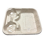 2 Cup Carrier w/ Food Tray, 8 oz. to 32 oz., 2/125/case