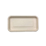 "Fiber Tray, Tan, 8.3 x 4.5 x 0.6"", 4/125/case"