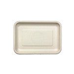 "Fiber Tray, Tan, 8 x 5.75 x 0.6"", 4/125/case"