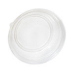 Tan Round Bowl Clear Lid, 4/75/case