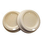 Fiber Hot Cup Lid, 12 oz. to 24 oz., Compostable, 10/50/case