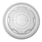 Food Container Lid, 8 oz., Compostable, CPLA, 20/50/case