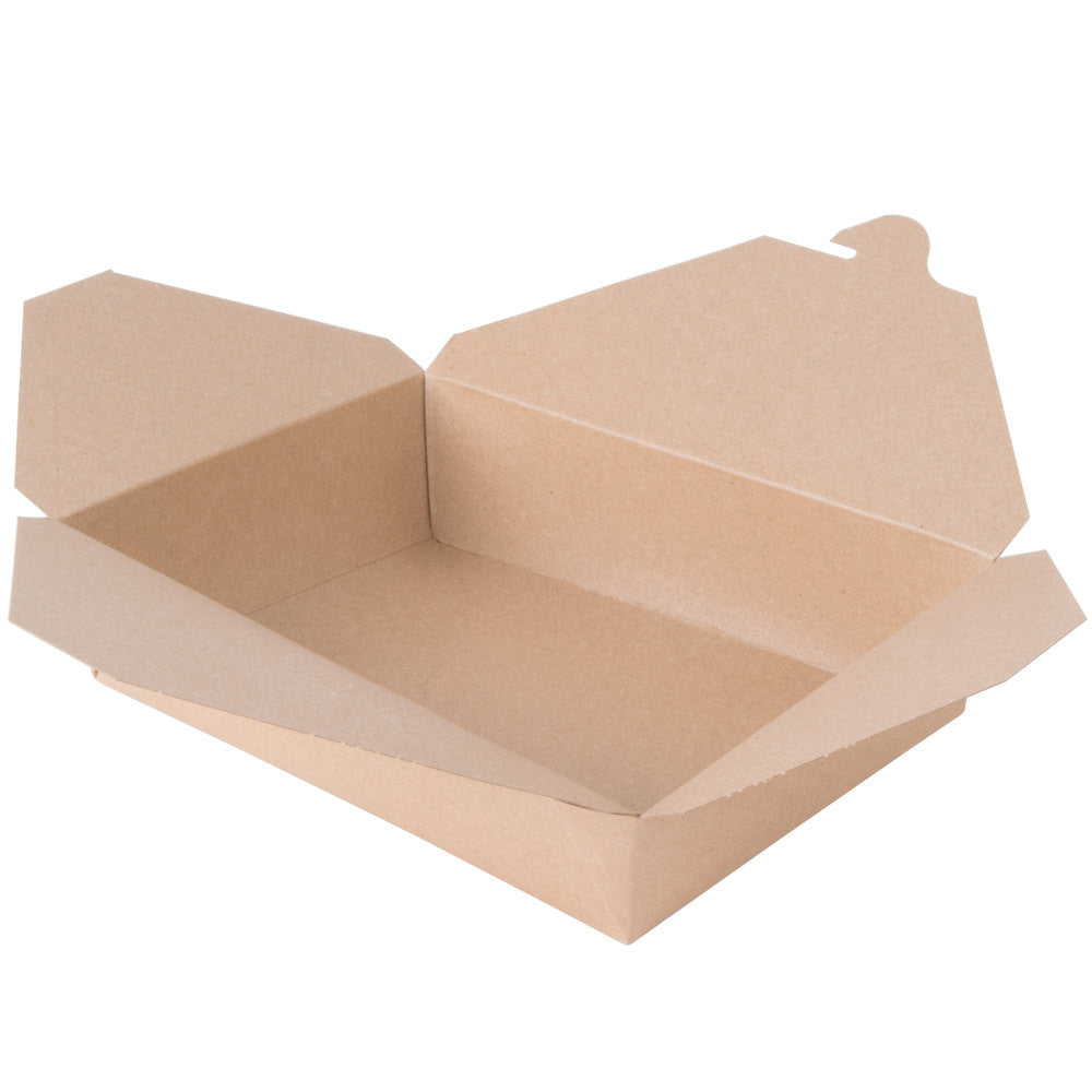 "Kraft To Go Container, #2, 8-1/2 x 6-1/4 x 1-7/8"", 200/case"