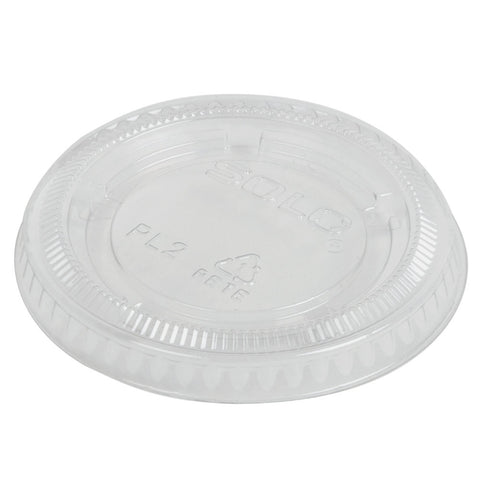 Sunset, 1.5-2.5 oz. Plastic Portion Cup Lid, Translucent, 20/125/case