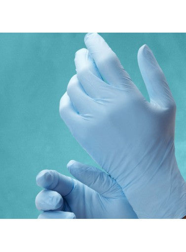Miracle Blue Nitrile Powder-Free Exam Glove, 3.8 mil, Textured, Small, 200/box