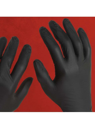 Night Angel Black Nitrile Powder-Free Exam Glove, Textured, XS-L 10x100, XL 10x90