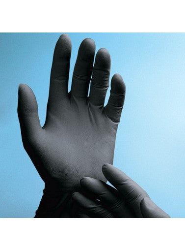 Phantom Black Latex Powder-Free Exam Glove, Textured, XS-L 10x100, XL 10x90