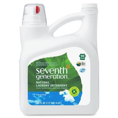 Seventh Gengeration Natural Liquid Laundry Detergent, Free & Clear, 150 fl. oz.