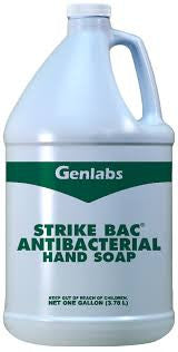 Genlabs Strike Bac Antibacterial Hand Soap, Biodegradable, 1 gal.
