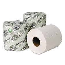 EcoSoft Universal Bathroom Tissue, 2-Ply, 500 Sheets, 96 rolls/carton