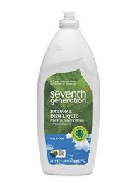 Seventh Generation Natural Dish Liquid, USDA Certified, Clear, 25 fl. oz.