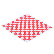 "Dry Wax Sheets, 9 x 12"", Red Checkerboard, 6000/ct"