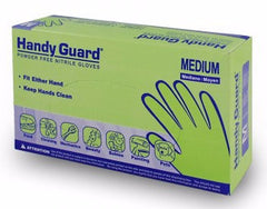 Handly Guard Poweder-Free (PF) Nitrile Gloves, White, Large, 100/box