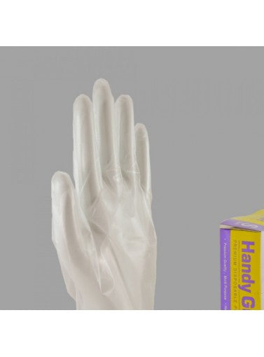 Handy Guard Polyethylene PE Glove, Inner Textured, S-L 10x100