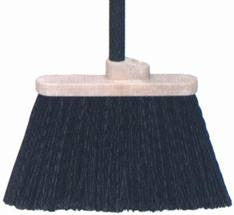 "Duo-Sweep Flagged Lobby Broom, 2 Handle Holes, Bristle Width 7.5"", Overall Length 36"""