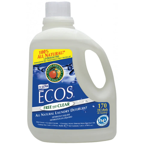 ECOS Liquid Laundry Detergent, Free & Clear, 170 oz
