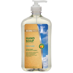 Hand Soap - Free & Clear (PL9663/6),  Earth Friendly ECOS Pro, 6 pk - 17 oz pump