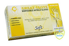 Great Glove - Soft Nitrile Powder-free Gloves - 200 Gloves/Box, 10 boxes/Case