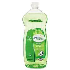 Green Works Natural Manual Pot & Pan Detergent, Liquid, 38 fl. oz., Green