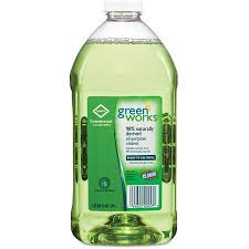 Green Works Natural Glass & Surface Cleaner, Refill, 64 fl. oz.