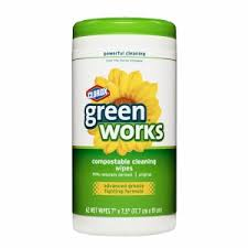 Green Works Natural Biodegradable Cleaning Wipes, 62 Wipes