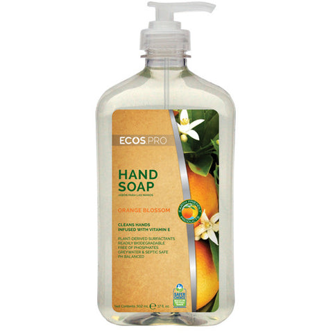 Hand Soap - Orange Blossom (PL9484), Earth Friendly ECOS Pro, 17 oz pump