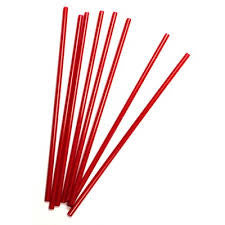 Stirrer Straws, Red, 5