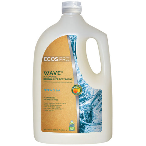 Wave Gel Auto-Dishwasher Detergent, Free & Clear, 100 oz (4/cs)