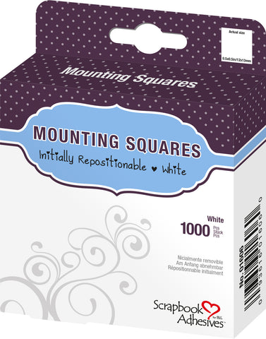 Scrapbook Adhesives White Repositionable Photo Mounting Squares