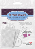Scrapbook Adhesives 3D Foam Squares Mixed White Self-Adhesive Foam Square Sheets