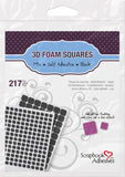 Scrapbook Adhesives 3D Foam Squares Mixed Black Self-Adhesive Foam Square Sheets