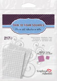 Scrapbook Adhesives 3D Thin Mixed Foam Squares White Self-Adhesive Foam Square Sheets