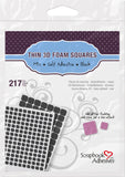 Scrapbook Adhesives 3D Thin Mixed Foam Squares Black Self-Adhesive Foam Square Sheets