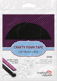 Scrapbook Adhesives Black Crafty Foam Tape Double-sided Adhesive