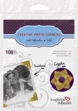 Scrapbook Adhesives Gold Self-Adhesive Scrapbook Photo Corners