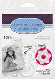 Scrapbook Adhesives Ivory Self-Adhesive Scrapbook Photo Corners