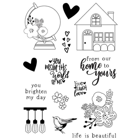Simple Stories So Happy Together Clear Acrylic Set