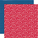Simple Stories Stars, Stripes + Sparklers Stars & Stripes Patterned Paper